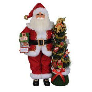 NEW Karen Didion Santa Clause Lighted Tree